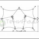 Мембранный шатер Корсика, схема конструкции