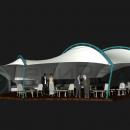 Дизайн мембранной конструкции Си Вейв - конструкции для укрытия летней веранды ресторана.