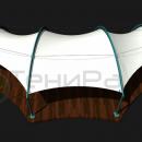 Дизайн тентовой конструкции для летней веранды ресторана.