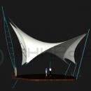 Устремленная вверх круглогодичная мембранная конструкция Скат