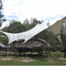 Натяжная мембранная конструкция Скат, вид сбоку